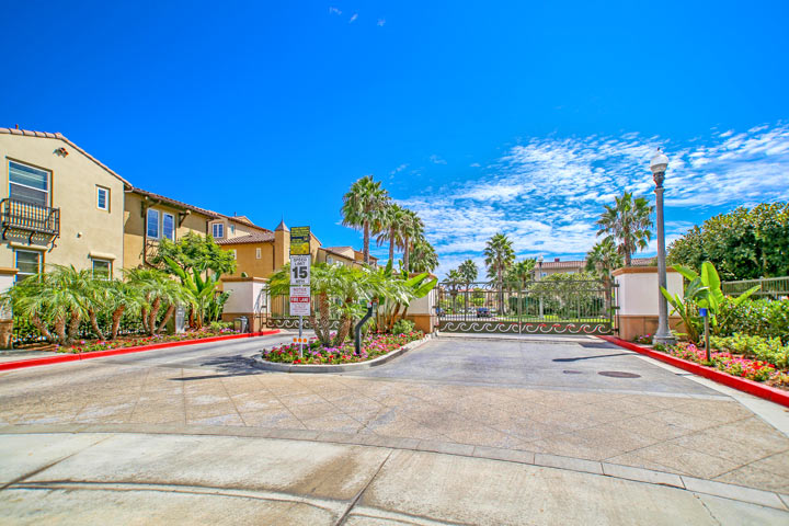 The Waterfront Gated Community in Huntington Beach, California